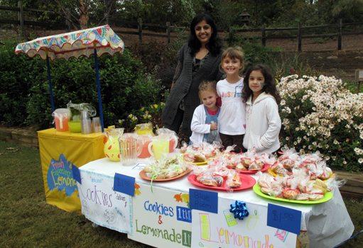Lemonade stand at the Fall Festival